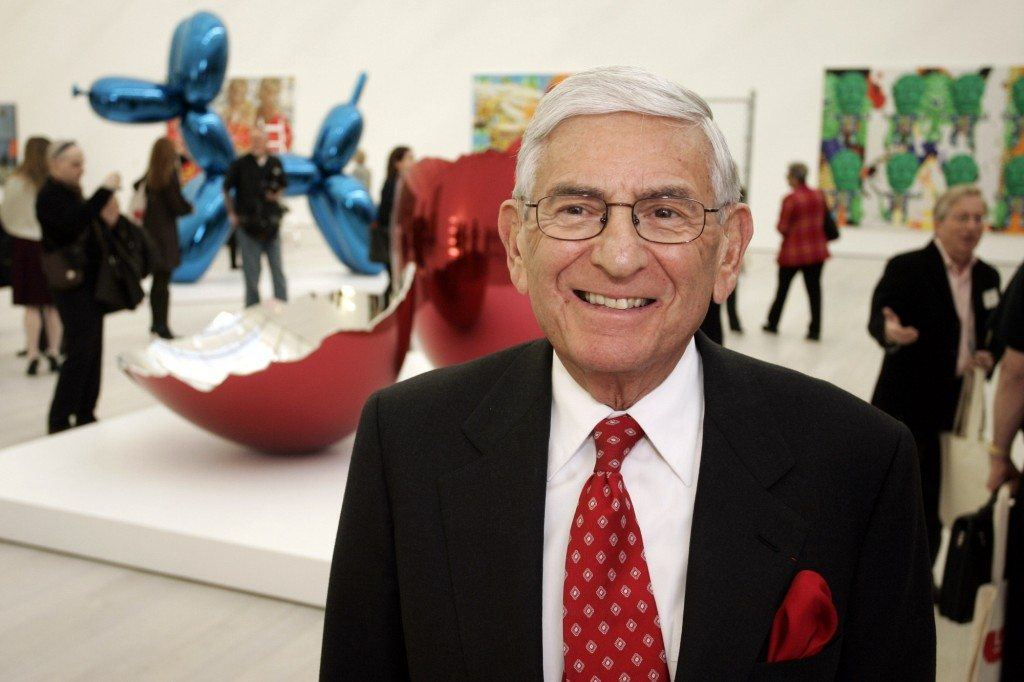 UNITED STATES - FEBRUARY 08: Eli Broad, billionaire philanthropist and art collector, poses for a photo at the Broad Contemporary Art Museum, a new building at the Los Angeles County Museum of Art in Los Angeles, California, U.S., on Thursday, Feb. 7, 2008. The billionaire philanthropist Eli Broad has done the Los Angeles County Museum of Art a good turn. He gave it $50 million to build a special home for contemporary art -- and did it without sandbagging the institution with the burden of his overblown collection. (Photo by Jonathan Alcorn/Bloomberg via Getty Images)